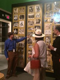 Curator Frank Luca gives a guided tour