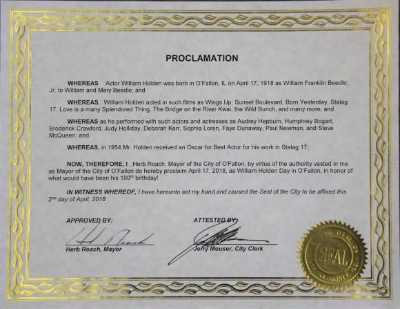 O'Fallon proclamation